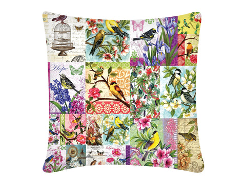 Cushion Cover, Square (Pink Birds)