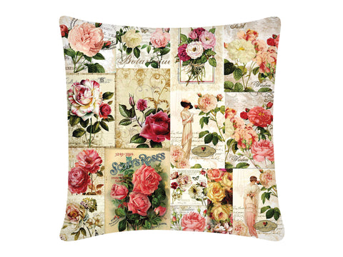 Cushion Cover, Square (Roses)