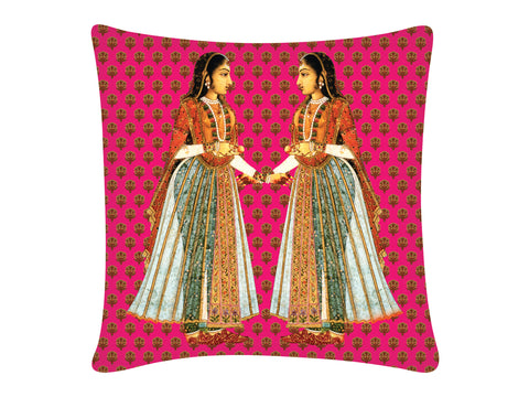 Cushion Cover, Square (Sakhi - Pink)