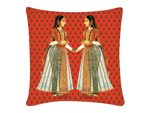 Cushion Cover, Square (Sakhi - Red)