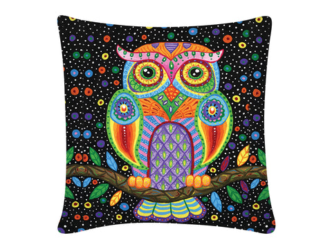 Cushion Cover, Square (Single Owl)