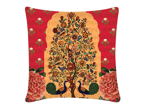 Cushion Cover, Square (Tree Of Life - Red)
