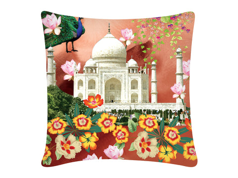 Cushion Cover, Square (Taj Mahal - Pink)