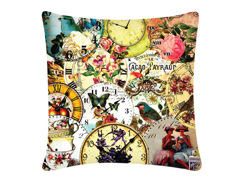 Cushion Cover, Square (Vintage Clock)