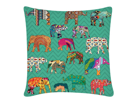 Cushion Cover Square-ZZ ELEPHANT AQUA