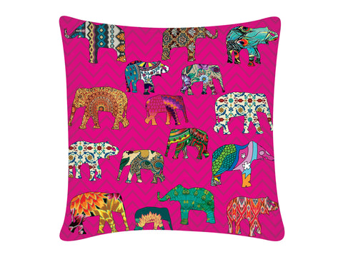 Cushion Cover, Square (ZZ Elephant - Pink)