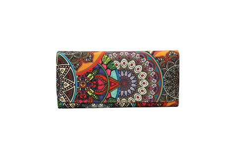 Flap Wallet - Mandala Orange