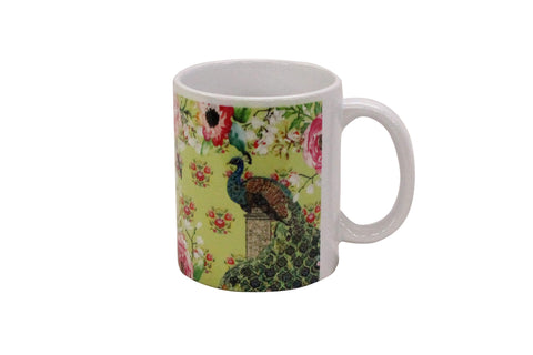 Mug, Large (Single Peacock - Lime)
