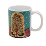 Mug, Large (Tree Of Life - Dark Aqua)