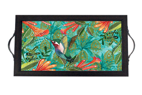 Tray, Mini (Palm Birds - Aqua Dark)