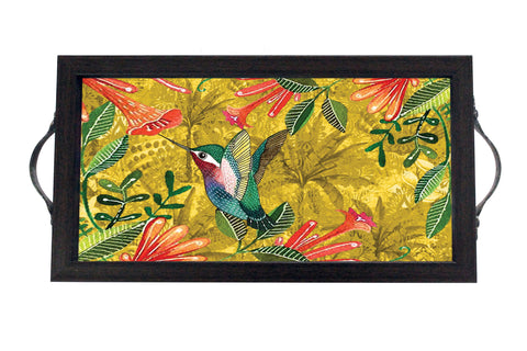 Tray, Mini (Palm Birds - Mustard)