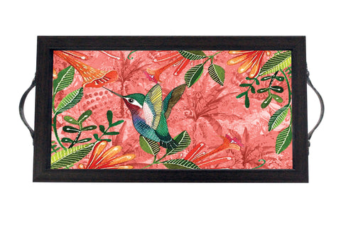 Tray, Mini (Palm Birds - Rose)