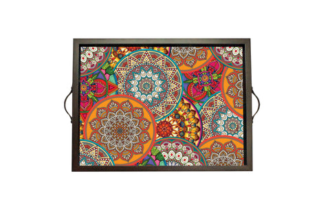 Tray, Large (Mandala - Orange)
