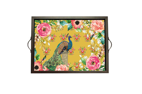 Tray, Large (Single Peacock - Yellow)