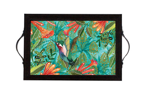 Tray, Micro (Palm Bird - Dark Aqua)