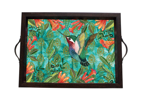 Tray, Small (Palm Bird - Dark Aqua)
