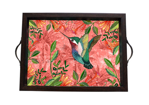 Tray, Small (Palm Bird - Peach)