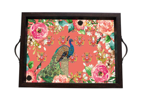 Tray, Small (Single Peacock - Peach)