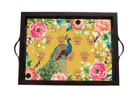 Tray, Small (Single Peacock - Yellow)