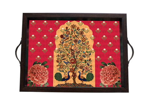 Tray, Small (Tree Of Life - Red)
