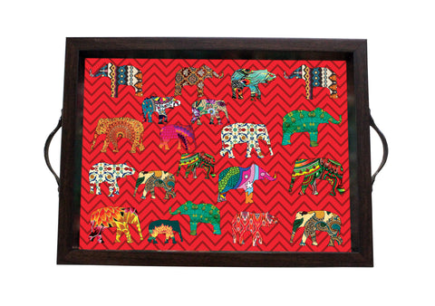Tray, Small (ZZ Elephant - Red)