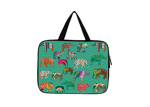 "LaptopSleeve15""- ZZElephantAqua"