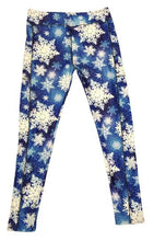 Load image into Gallery viewer, Snowflakes Leggings w/pockets
