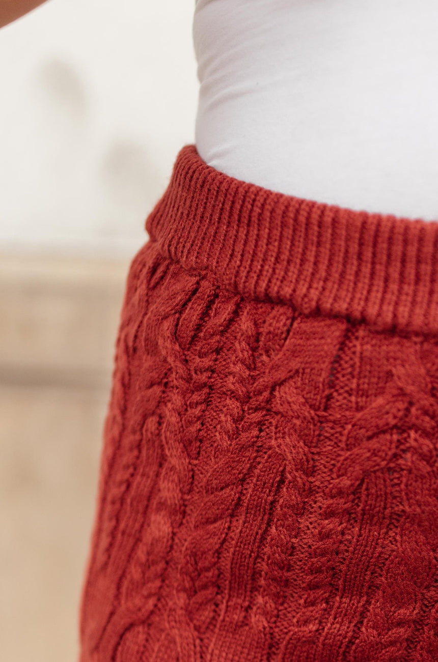 Annie Knit Bottoms in Rust