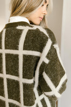 Load image into Gallery viewer, Bold Lines Cardigan in Olive