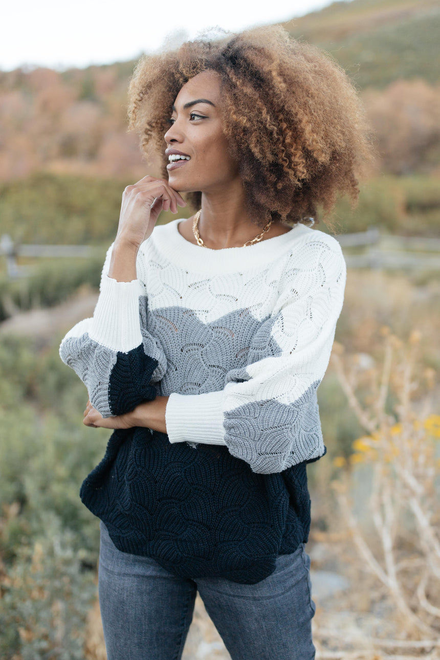 Designed For Details Sweater in Gray