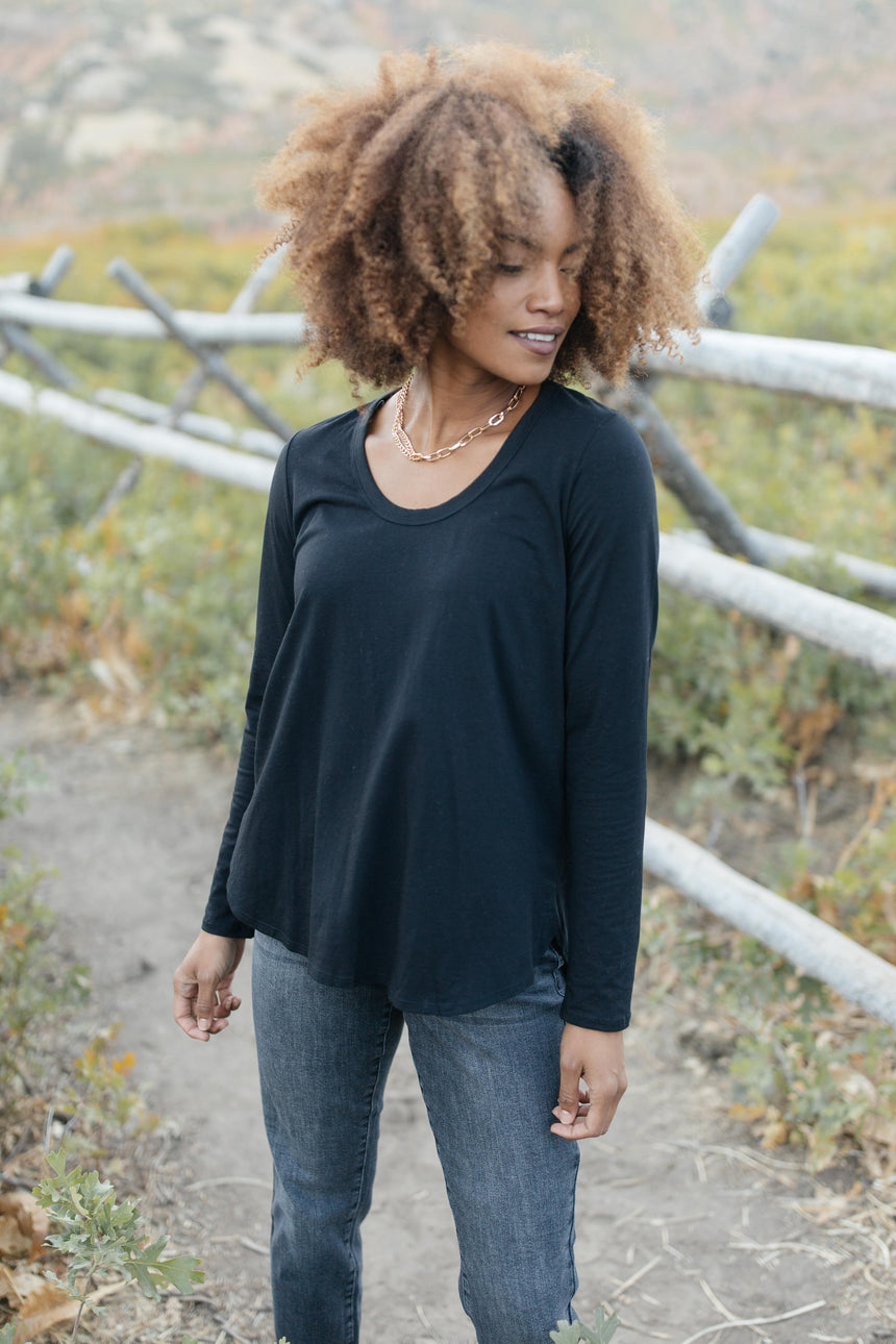 Every Girl's Favorite Basic Top in Black