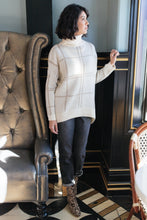 Load image into Gallery viewer, Grand Grid Print Sweater in Cream
