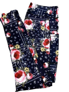 Bandana Roses Leggings w/pockets