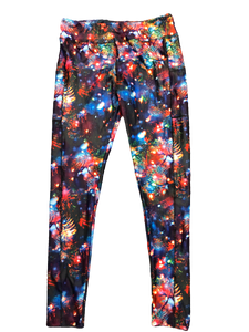 Christmas Tree Lights Leggings w/Pockets