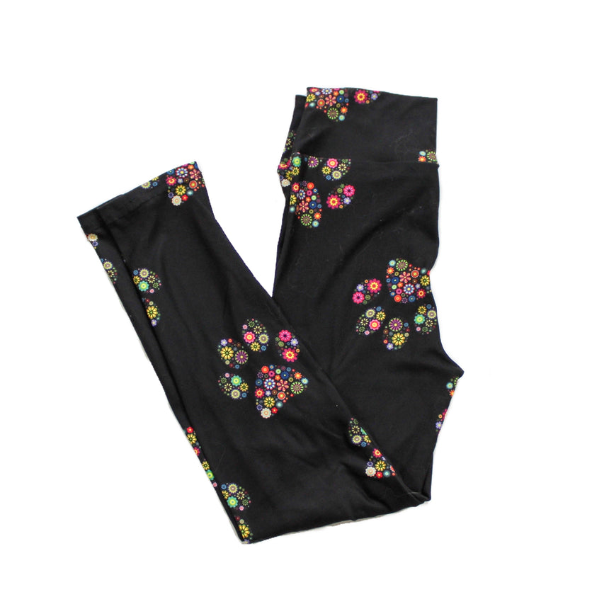 Floral Paws Kids Leggings