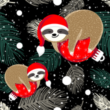 Load image into Gallery viewer, Santa Hat Sloths Leggings