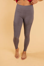 Load image into Gallery viewer, Soft As Butter Moto Leggings in Charcoal