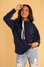 Load image into Gallery viewer, The Mia Leopard and Navy Cowl Neck