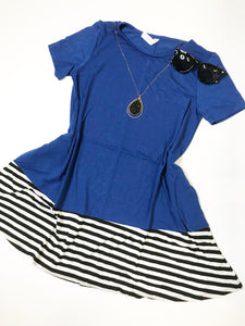 Dipped striped top