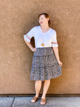 Load image into Gallery viewer, Leopard tiered skirt