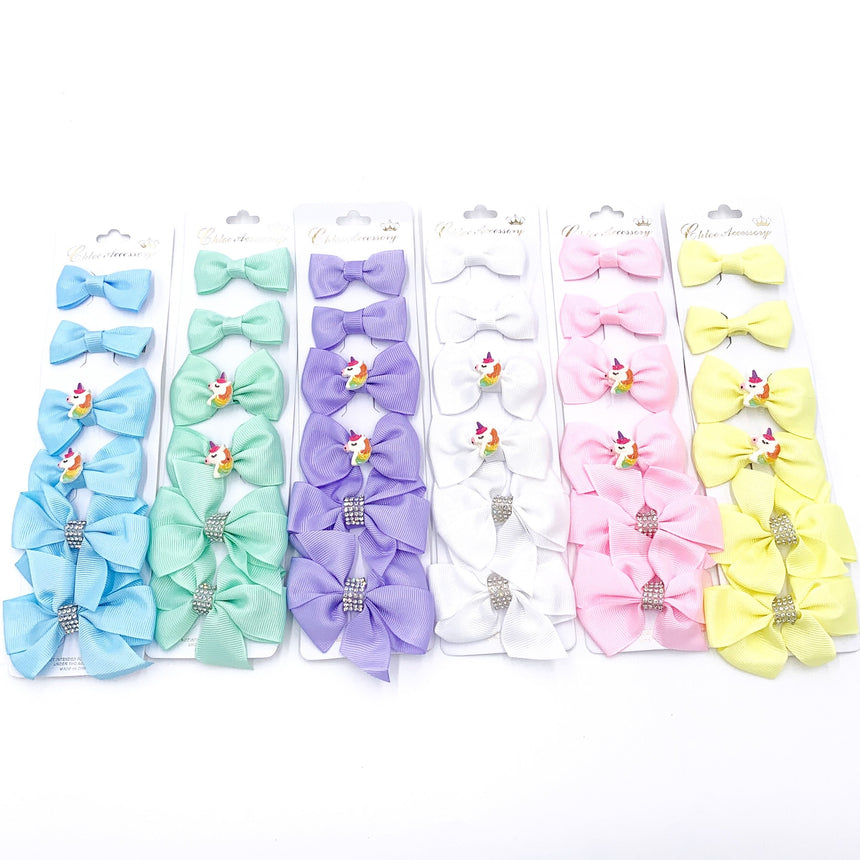 Solid Unicorn Bow 6 Piece