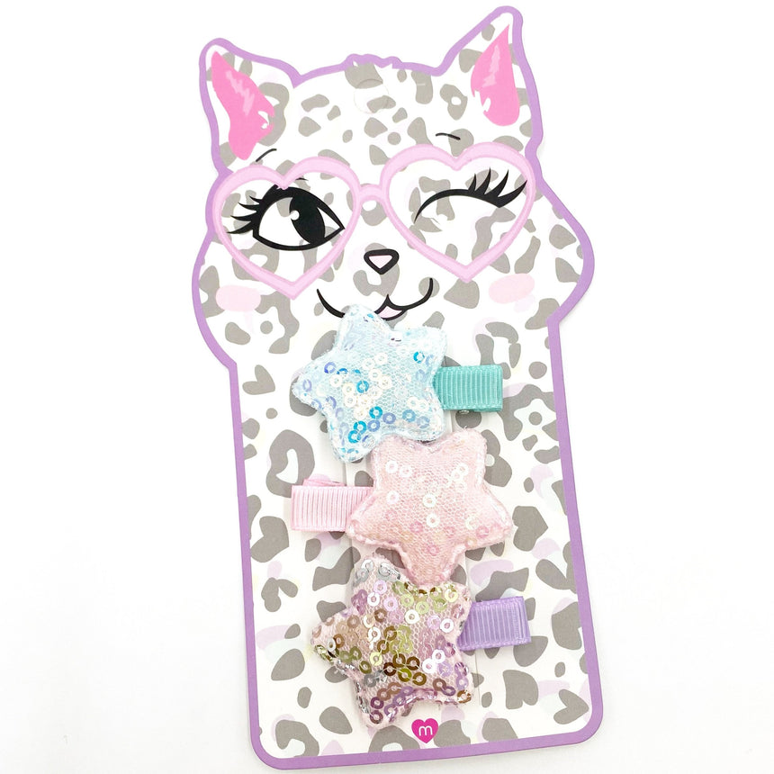 Kids Cat Stars Hair Clip Set