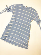 Load image into Gallery viewer, Kids blue striped dress