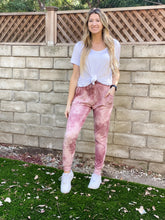 Load image into Gallery viewer, Pink Tie Dye Joggers