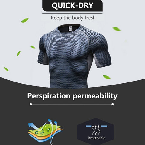 Presentation Quick Dry short sleeves RASH GUARD t-shirt GREY BLACK