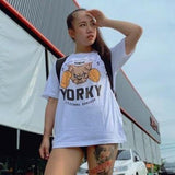 Front view wear by model Aundy Jarinya Ngammung YORKY MMA Official Tee on street