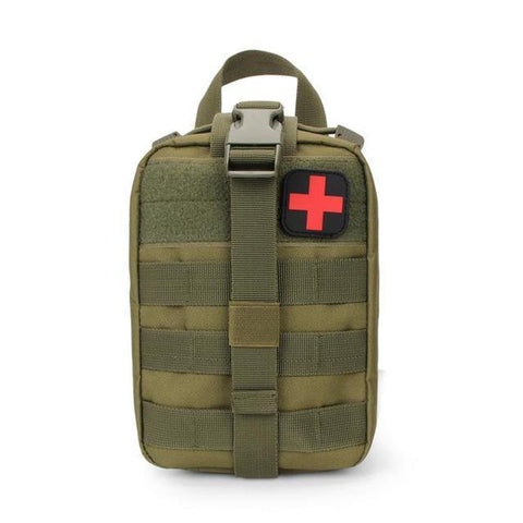 Green First Aid Kit Bag front view - Martial Arts Asia