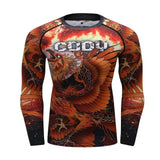 No Gi Rash Guard Shirt MMA BJJ Active Wear - Phoenix Edition