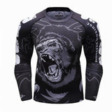 Front view No Gi Rash Guard Shirt MMA BJJ Active Wear - Ape Strength Edition