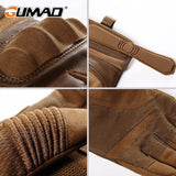 Multiple image details knuckle, wrist lock, thumb join, palm grip Touch Screen Hard Knuckle Tactical Gloves brown color